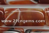 CAA301 15.5 inches 25*50mm rectangle red line agate gemstone beads