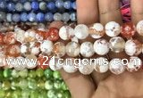 CAA3073 15 inches 10mm faceted round fire crackle agate beads wholesale