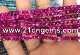 CAA3263 15 inches 4mm faceted round agate beads wholesale