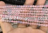 CAA3275 15 inches 4mm faceted round agate beads wholesale