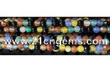 CAA3296 15 inches 6mm faceted round agate beads wholesale