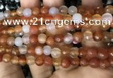 CAA3310 15 inches 6mm faceted round agate beads wholesale