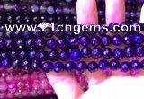 CAA3337 15 inches 8mm faceted round agate beads wholesale