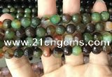 CAA3346 15 inches 8mm faceted round agate beads wholesale
