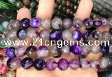 CAA3370 15 inches 10mm faceted round agate beads wholesale