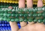 CAA3373 15 inches 10mm faceted round agate beads wholesale