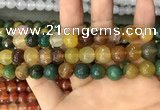 CAA3377 15 inches 10mm faceted round agate beads wholesale