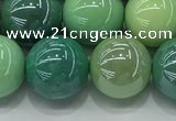CAA3519 15.5 inches 12mm round AB-color grass agate beads wholesale