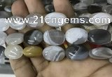 CAA3566 15.5 inches 15*20mm oval grey Botswana agate beads