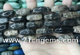 CAA3722 15.5 inches 9*22mm - 11*25mm rice chrysanthemum agate beads