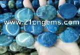 CAA3726 25*35mm - 30*40mm freeform chrysanthemum agate beads