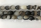 CAA3787 15.5 inches 13*18mm rice agate druzy geode beads