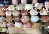 CAA3820 13*17mm - 18*22mm faceted nuggets line agate beads