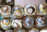 CAA3847 15 inches 6mm round tibetan agate beads wholesale