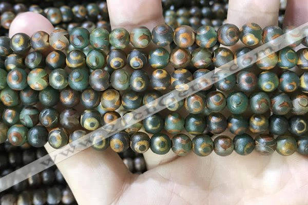 CAA3849 15 inches 6mm round tibetan agate beads wholesale