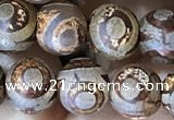 CAA3870 15 inches 8mm round tibetan agate beads wholesale