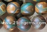 CAA3884 15 inches 8mm round tibetan agate beads wholesale