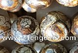 CAA3905 15 inches 10mm round tibetan agate beads wholesale