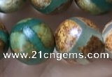 CAA3915 15 inches 10mm round tibetan agate beads wholesale