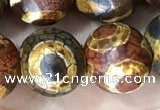 CAA3925 15 inches 12mm round tibetan agate beads wholesale