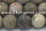 CAA3963 15.5 inches 10mm faceted round chrysanthemum agate beads