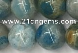 CAA3980 15.5 inches 12mm round chrysanthemum agate beads