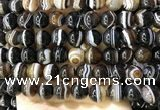 CAA4021 15.5 inches 12mm round line agate beads wholesale