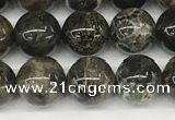 CAA4035 15.5 inches 8mm round chrysanthemum agate beads