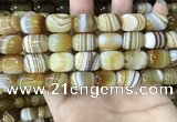 CAA4153 15.5 inches 12*16mm drum line agate beads wholesale