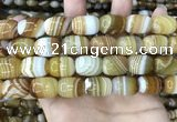CAA4154 15.5 inches 13*18mm drum line agate beads wholesale
