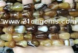 CAA4200 15.5 inches 10*16mm teardrop line agate gemstone beads