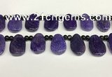 CAA4361 Top drilled 20*30mm freeform dragon veins agate beads