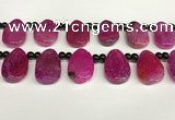 CAA4363 Top drilled 20*30mm freeform dragon veins agate beads