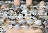 CAA4375 15.5 inches 12*16mm flat teardrop Montana agate beads