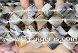 CAA4381 15.5 inches 18*18mm diamond Montana agate beads