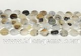 CAA4384 15.5 inches 14mm flat round Montana agate beads