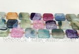 CAA4423 15.5 inches 20*20mm square agate druzy geode beads