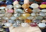 CAA4467 15.5 inches 13*20mm oval dragon veins agate beads