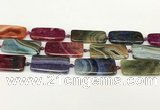 CAA4507 15.5 inches 20*40mm rectangle dragon veins agate beads