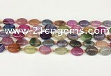 CAA4510 15.5 inches 10*14mm oval dragon veins agate beads
