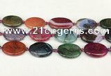 CAA4515 15.5 inches 22*30mm oval dragon veins agate beads