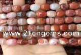 CAA4568 15.5 inches 8*12mm - 9*14mm rice south red agate beads