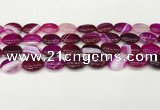 CAA4655 15.5 inches 12*16mm oval banded agate beads wholesale