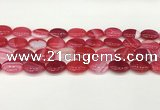 CAA4656 15.5 inches 12*16mm oval banded agate beads wholesale