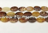 CAA4677 15.5 inches 18*25mm oval banded agate beads wholesale