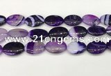 CAA4678 15.5 inches 18*25mm oval banded agate beads wholesale