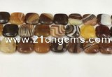 CAA4757 15.5 inches 18*18mm square banded agate beads wholesale