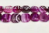 CAA4783 15.5 inches 30*30mm square banded agate beads wholesale
