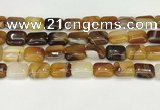 CAA4797 15.5 inches 12*16mm rectangle banded agate beads wholesale