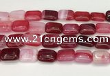 CAA4816 15.5 inches 15*20mm rectangle banded agate beads wholesale